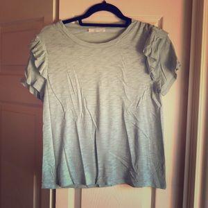 Lush tshirt with should ruffles